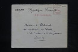 FRANCE - Affranchissement Mécanique De Paris Sur Enveloppe Du Sénat En 1940 Pour Paris - L 26216 - Marcophilie (Lettres)