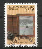 ANDORRA .Année De La Photographie En Andorre, Vue Le La Vallée Enneigée Depuis Une Fenêtre,  Oblitéré, 1 ère Qualité - Used Stamps