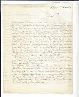BARON D' HAUSSEZ  1778 Neufchâtel En Bray - 1854  Autographe 2 Lettres 6 P. 1842 Saint Saëns Colonie Agricole Arcachon - Autographs