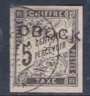 Obock Taxe N° 9 O Partie De Série : 5 C. Noir Oblitération Moyenne Sinon TB - Obock (1892-1899)