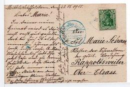 CPA - CACHET BLEU DE CENSURE STRAßBURG Sur CP FANTAISIE - 1877-1920: Periodo Semi Moderno
