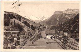 VS Lötschbergbahn. Station AUSSERBERG Mit Simplon - VS Valais
