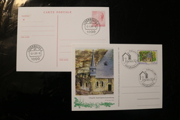 Luxembourg Christmas On Card 1989 Royal Stamped Card 1991 Day Of Issue Cancel 04s - FDC
