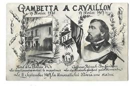 84 GAMBETTA A CAVAILLON LE 17 FEVRIER 1907 CPA 2 SCANS - Cavaillon