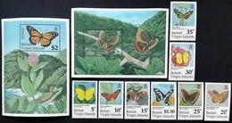 # British Virgin Islands 1991**Mi.729-38  Butterflies , MNH [20;29] - Farfalle