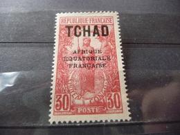TIMBRE  TCHAD   N  27      COTE  0,75  EUROS   NEUF  SG - Chad (1922-1936)