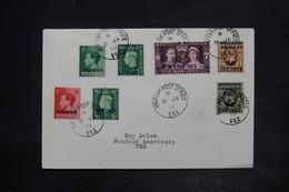 MAROC ANGLAIS - Affranchissement Plaisant De Fez Sur Enveloppe En 1938 - L 26234 - Bureaux Au Maroc / Tanger (...-1958)