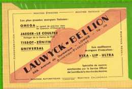 Buvard & Blotting Paper :  Bijouterie LAUWYCK BELLION LOMME - Vloeipapier