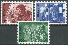 SCHWEIZ 1975 Mi-Nr. BIT 105/07 ** MNH - Dienstpost