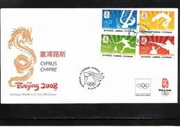 Cyprus 2008 Olympic Games Beijing FDC - Ete 2008: Pékin