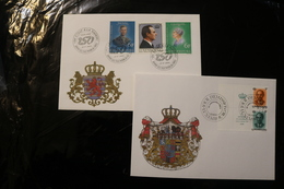 Luxembourg Henri Charlotte Independence 150 Years Two Cancels Grand Duke Jean Day Of Issue Cancel 1989 04s - FDC