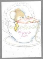 "Mouse Teddy Bear Souris Nounours Maus Teddybär ""Get Well Soon"" - Unused - Postales"