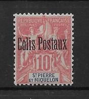 1901  Saint Pierre Et Miquelon  N°  CP 2  Nf** MNH . Colis Postaux . - St.Pierre Et Miquelon