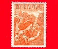 Nuovo - VATICANO - 1956 - Arcangelo Gabriele -  POSTA AEREA - Dipinto Di Leonardo Da Vinci - 15 - Poste Aérienne