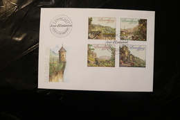 Luxembourg Engravings By Selig Fortress Day Of Issue Cancel 1990 04s - FDC