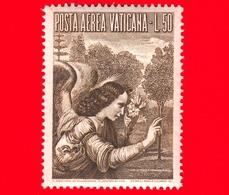 Nuovo - VATICANO - 1956 - Arcangelo Gabriele -  POSTA AEREA - Dipinto Di Leonardo Da Vinci - 50 - Poste Aérienne