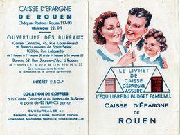 Trois Calendriers-caisse D'épargne De Rouen-chocolat Cardon Et Loterie Nationale  1948 - 1951 - 1952 - - Calendriers