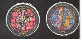 TIMBRES  OBLITERATIONS RONDES....2011... CATHEDRALE DE REIMS...800° ANNIV..N°4549/4550.  TBE. - France