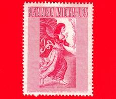 Nuovo - VATICANO - 1956 - Arcangelo Gabriele -  POSTA AEREA - Dipinto Di Melozzo Da Forlì - 25 - Poste Aérienne