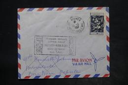 NOUVELLE CALÉDONIE - Enveloppe 1 Er Service Nouméa / Bora Bora En 1958 - L 26249 - Nueva Caledonia