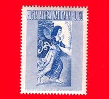 Nuovo - VATICANO - 1956 - Arcangelo Gabriele -  POSTA AEREA - Dipinto Di Melozzo Da Forlì - 60 - Poste Aérienne