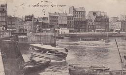 50. CHERBOURG. CPA . QUAI COLIGGNY  ANNÉE 1919 + TEXTE - Cherbourg