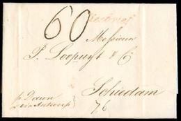 "BELGIUM. 1827 (1 May). Via Belgium. NY - Netherlands. EL Full Text With Red ""Zeebrief"" + Captain Dawn 60c Charge (40c Ma - Belgium"