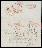 """USA. 1832 (28 Feb). Belgium - Netherlands / Belgian Direct Route. Baltimore - Belgium. EL With Red Anvers Box """"Pays D' O - Unclassified"""