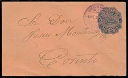 NICARAGUA. 1892. Chinandenga - Corinto. 5c Blue Sta Colon Env. Fine Used + Arrival. - Nicaragua