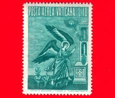 Nuovo - VATICANO - 1956 - Arcangelo Gabriele -  POSTA AEREA - Mosaico Di Pietro Cavallini - 10 - Poste Aérienne