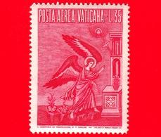 Nuovo - VATICANO - 1956 - Arcangelo Gabriele -  POSTA AEREA - Mosaico Di Pietro Cavallini - 35 - Poste Aérienne