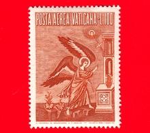 Nuovo - VATICANO - 1956 - Arcangelo Gabriele -  POSTA AEREA - Mosaico Di Pietro Cavallini - 100 - Poste Aérienne