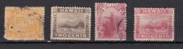 Hawaii  1894  4 Valeurs - Hawaii