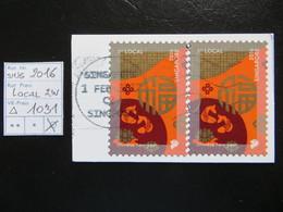"2016  "" Local ""  2 Werte Auf Ausschnitt, Gut Gestempelt   LOT 1031 - Singapur (1959-...)"