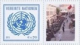 2013 - O.N.U. / UNITED NATIONS - VIENNA / WIEN - FRANCOBOLLI DA FOGLIO DI FRANCOBOLLI PERSONALIZZATI - DOHA 2015. MNH - Wien - Internationales Zentrum