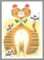 "Mouse Mice Cat Souris Chat Maus Katze Illustr. Osmo ""Omppu"" Omenamäki - Unused - Ilustradores & Fotógrafos"