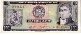 Peru P.102 100 Soles 1973 Au - Perù