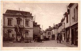 49 FONTEVRAULT - Place De La Mairie - Other Municipalities