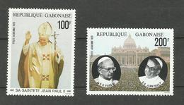 Gabon Poste Aérienne N°217, 218 Neufs** Cote 7.80 Euros - Gabón (1960-...)