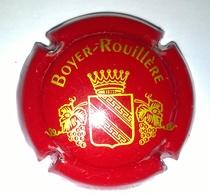 """Plaque De Muselet De Champagne """" Boyer Rouillère - Rouge Et Or """" - Autres"""