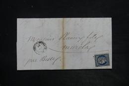 FRANCE - Affranchissement Cérès 25ct Bleu Sur Lettre De Clermont Ferrand En 1953 - L 26260 - 1849-1876: Période Classique