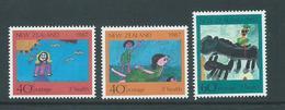 New Zealand 1987 Health Charity Children's Drawings Set Of 3 Singles MNH - Nueva Zelanda