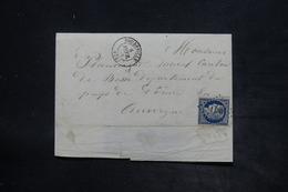 FRANCE - Affranchissement Cérès 25ct Bleu Sur Lettre De Doudeville En 1953 Pour Murol - L 26261 - 1849-1876: Klassieke Periode