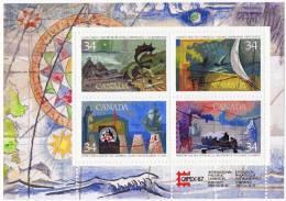 1986  Explorers Souvenir Sheet Vikings, First Nations, Hudson, Cabot  Sv 1107b MNH ** - 1952-.... Règne D'Elizabeth II