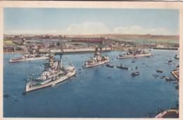 MALTA-GRAND HARBOUR SHOWING BRITISH FLEET - Malta