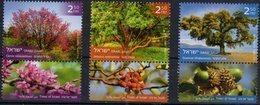ISRAEL, 2018, MNH, TREES, 3v+TABS - Trees