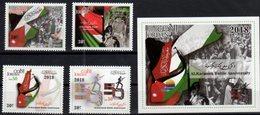 JORDAN, 2018, MNH, MILITARY, 50th ANNIVERSARY OF THE BATTLE OF AL KARAMEH,  FLAGS, 4v+S/SHEET - History