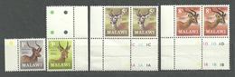 Malawi 1971 (#148d), Animals, Animales, Animaux, Animali, Tiere, Animais, Zwierzęta, Antelopes - 8v Incomplete Set - Game