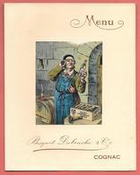 Menu Publicitaire Chromo-lithographié Vierge COGNAC BISQUIT DUBOUCHE & Cie   Editeur BRU Et FIS à JARNAC - Menus