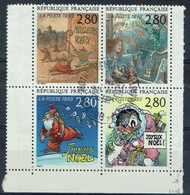 France, Comics, 1993, VFU Awesome Block Of Four - Used Stamps